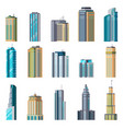 buildings and modern city houses building vector image vector image