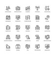 business and finance line icons 11 vector image vector image