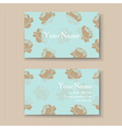 business card with vintage flowers vector image vector image