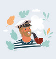 capitan sailor man vector image
