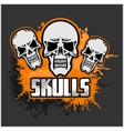 Cartoon skulls design vector image vector image