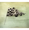 Checkered Flag old-style vector image vector image