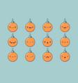 christmas ball emoji set vector image vector image