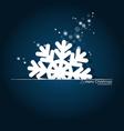 Christmas postcard with origami Christmas vector image