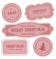 christmas retro design labels vector image vector image