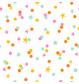 colorful paper confetti with stars and hearts vector image vector image