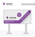 company r logo design with advertisement board vector image