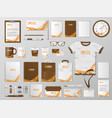 corporate branding identity template design vector image