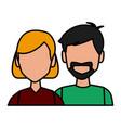 couple avatar cartoon vector image