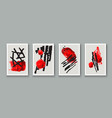 creative minimalist hand painted abstract vector image vector image