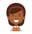cute and little african girl vector image