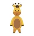 cute little giraffe animal character vector image