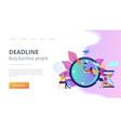 deadline concept landing page vector image