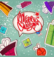 decorative christmas concept vector image
