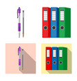 design office and supply symbol set of vector image
