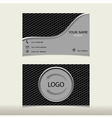 design templates name card vector image vector image