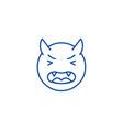 devil emoji line icon concept devil emoji flat vector image vector image