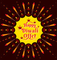diwali festival offer poster design layout vector image vector image