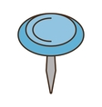 drawing blue pushpin map school vector image