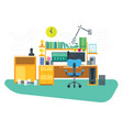 flat freelancer workspace vector image