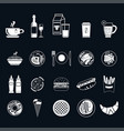 food icons thin line style flat design vector image