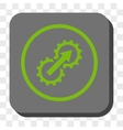 Gear Integration Rounded Square Button vector image vector image