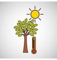 global warming environment concept design vector image