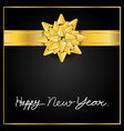 gold bow ribbon vector image vector image