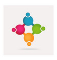 group creative teamwork people logo vector image vector image