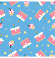 Happy Birthday Seamless Pattern with Cakes vector image vector image