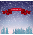 Happy New Year Landscape in Purple Shades vector image vector image