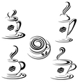 Hot Coffee Mugs vector image vector image