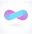 infinity symbol five lines limitless icon logo vector image vector image