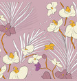 leaf orchid pattern beautiful spring texture vector image vector image