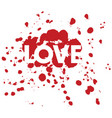 love dots vector image vector image