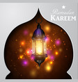 magic stain glass light vector image