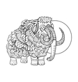 Mammoth coloring book vector image vector image