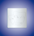 mask metal vector image vector image