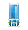modern hotel building skyscrapers towers with vector image vector image