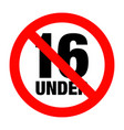 No under sixteen entry badge