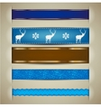 Nordic Christmas Ribbon Banners vector image vector image