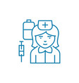 nurse linear icon concept nurse line sign vector image vector image