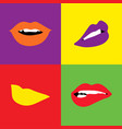 pop lips bright color vector image