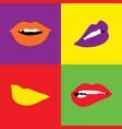 pop lips bright color vector image vector image