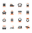 public transport icon set vector image vector image