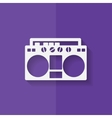 Retro tape recorder hipster style Flat design vector image