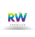 rw r w colorful letter origami triangles design vector image vector image