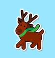 santa clareain deer icon isolated cute christmas vector image