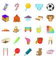 schoolyard icons set cartoon style vector image vector image