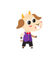 set cartoon funny goats isolated on vector image vector image
